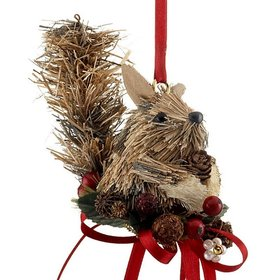 Handmade Woodland Squirrel Christmas Ornament