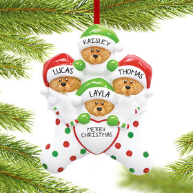 Personalized Stocking Bears 4 Christmas Ornament