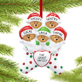 Personalized Stocking Bears 5 Christmas Ornament