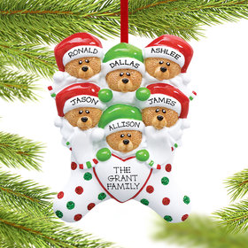 Personalized Stocking Bears 6 Christmas Ornament