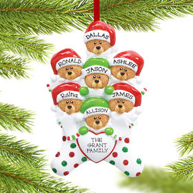 Personalized Stocking Bears 7 Christmas Ornament