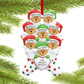Personalized Stocking Bears 8 Christmas Ornament
