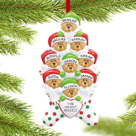 Personalized Stocking Bears 9 Christmas Ornament