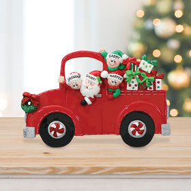 Personalized Santa's Truck 2 Children Tabletop Christmas Ornament