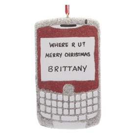 Personalized Cellphone Texting Christmas Ornament