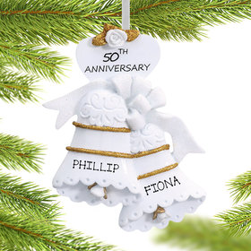 Personalized 50th Anniversary Bells Christmas Ornament