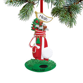 Personalized Golf Bag Christmas Ornament
