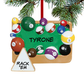 Personalized Pool Table Christmas Ornament