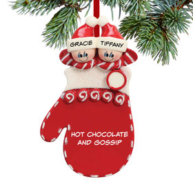 Personalized Mitten Siblings Christmas Ornament