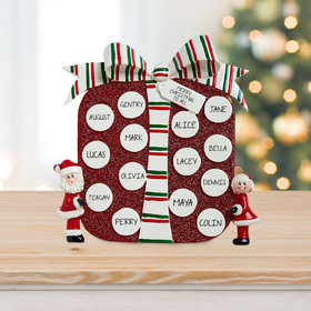 Personalized Package Family Table Top Christmas Ornament