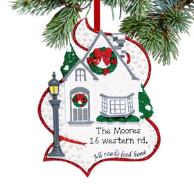 Personalized All Roads Lead Home Christmas Ornament