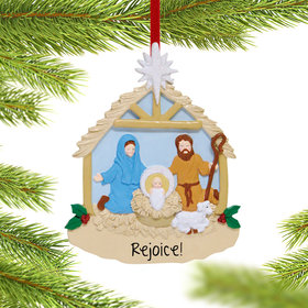 Personalized Nativity Christmas Ornament