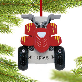 Personalized All Terrain Vehicle Christmas Ornament