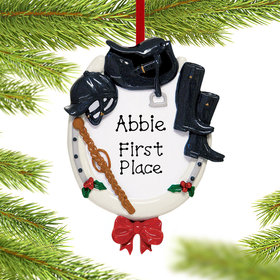 Personalized English Horse Rider Christmas Ornament
