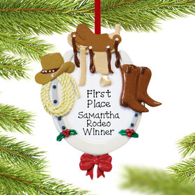 Personalized Western Horse Rider Christmas Ornament