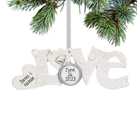 Personalized Love Christmas Ornament