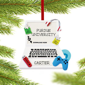 Personalized Teenage Computer Christmas Ornament