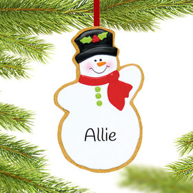 Personalized Snowman Cookie Christmas Ornament
