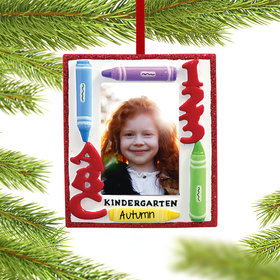 Personalized Kindergarten Picture Frame Ornament Christmas Ornament