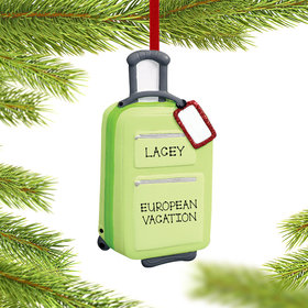 Personalized Carry On Suitcase Christmas Ornament