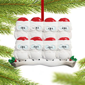 Wise Owl Family of 8 Christmas Ornament