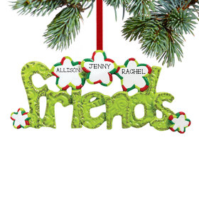 Personalized Friends Word for 2 or 3 friends Christmas Ornament