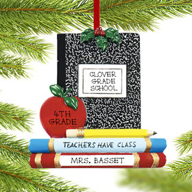 Personalized Teachers Have Class Christmas Ornament