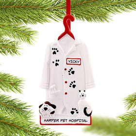 Personalized Veterinarian Coat Christmas Ornament
