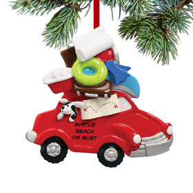 Personalized Beach Vacation Car Christmas Ornament