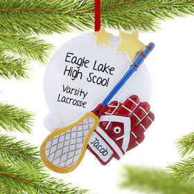 Personalized Lacrosse Christmas Ornament