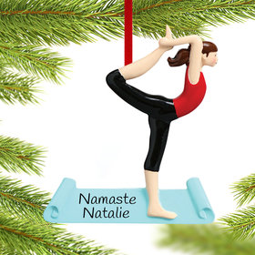 Personalized Yoga Pose Christmas Ornament