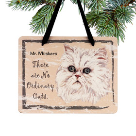 Personalized Persian Cat Plaque Christmas Ornament