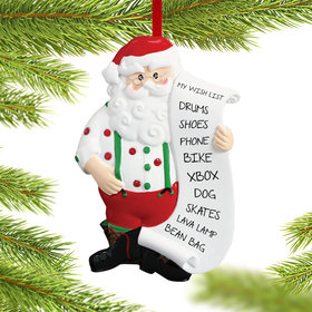 Personalized Santa Wish List Christmas Ornament