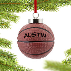 Personalized Ceramic Basketball Christmas Ornament
