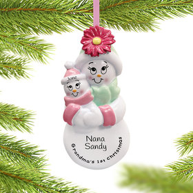 Personalized Grandma's First Christmas (Baby Girl) Christmas Ornament