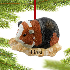 Personalized Guinea Pig Christmas Ornament