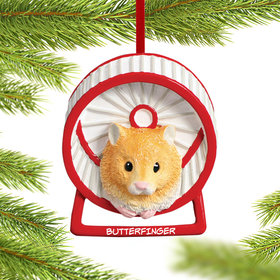 Personalized Hamster Christmas Ornament