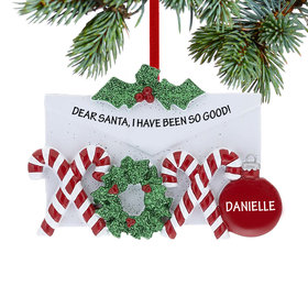 Personalized Hugs and Kisses Letter Christmas Ornament