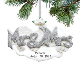 Personalized Mr. & Mrs. Christmas Ornament