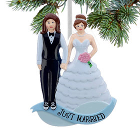 Same Sex Marriage (Women in Tuxedo/Wedding Gown) Christmas Ornament