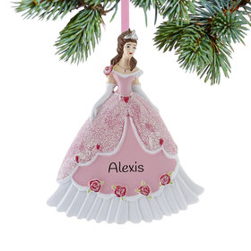 Personalized Princess in Pink Ball Gown Christmas Ornament