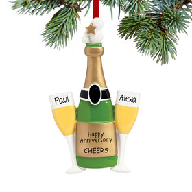 Personalized Champagne Toast Christmas Ornament