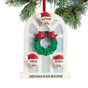 Personalized Christmas Window Family of 3 Christmas Ornament