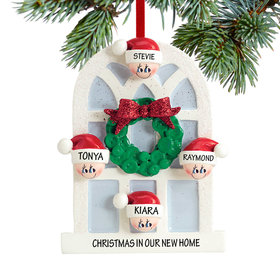 Personalized Christmas Window Family of 4 Christmas Ornament