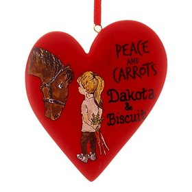 Personalized Peace and Carrots Little Girl Christmas Ornament