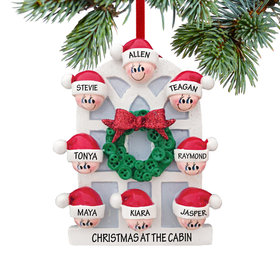 Personalized Christmas Window Family of 8 Christmas Ornament