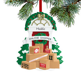 Personalized Online Shopper Christmas Ornament