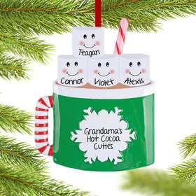 Personalized Marshmallow Mug Family of 4 Christmas Ornament