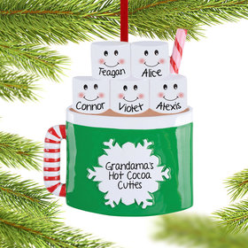 Personalized Personalized Marshmallow Mug Family of 5 Christmas Ornament