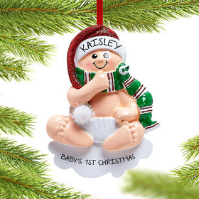 Personalized Christmas Baby Christmas Ornament